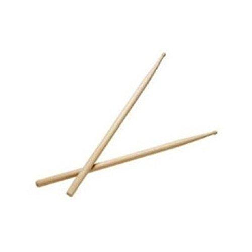 HEALLILY 2pcs Drum Sticks 2B Accesorios de instrumentos musicales de punta de baquetas de madera clásica