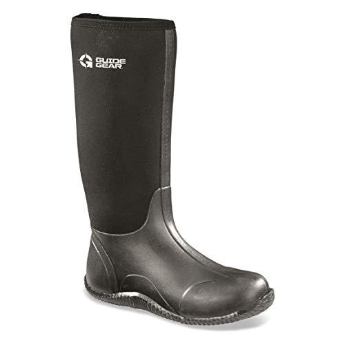 Guide Gear Men's High Bogger Waterproof Rubber Boots, Black, 12D (Medium)