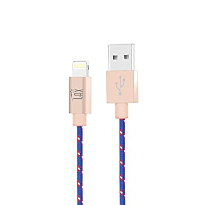 LAX Gadgets iPhone Charger Lightning Cable - MFi Certified Durable Braided Apple Lightning USB Cord for iPhone 11/11 Pro Max/XS Max/X/iPad, iPod & More from LAX Gadgets