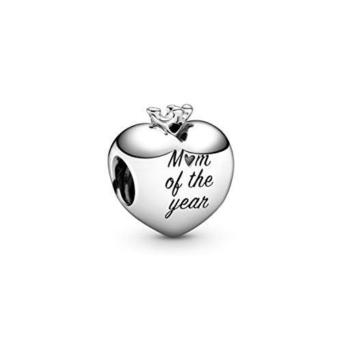 PANDORA Mom of the Year Heart 925 Sterling Silver Charm - 798823C00