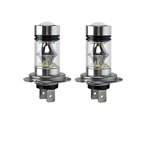 MCYAW Bajo Consumo de Alta Potencia LED Bombilla de Bombilla/luz de Niebla Vida Larga H4 H7 H8 H8 9005/9006 6000K 100W 1000LM Luz Blanca (Emitting Color : H7)