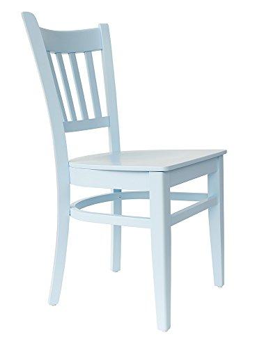 abritus Set 2 Stühle Stuhl Esszimmerstuhl Buche Holz blau lackiert »T002«