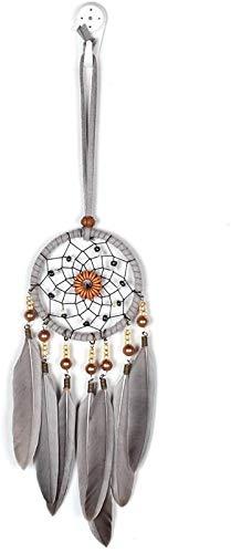 JJDSN Atrapasueños de Pared Indio Hecho a Mano artesanías de Plumas Coche Perla atrapasueños Decoraciones Colgantes Decoraciones