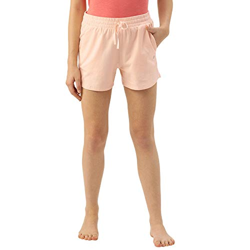 Enamor Essentials E078 Women's Relaxed Fit Cotton Terry Comfy Shorts...