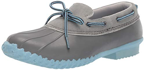JBU by Jambu Women's Gwen Garden Ready Rain Shoe, Grey/Stone Blue Solid, 8.5 M US