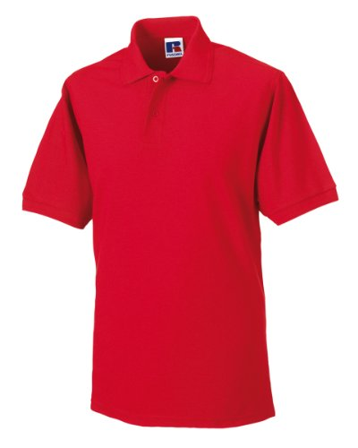 Russels Workwear - Polo - - Polo - Col polo - Manches courtes Homme - Rouge - Bright Red - Xx-large