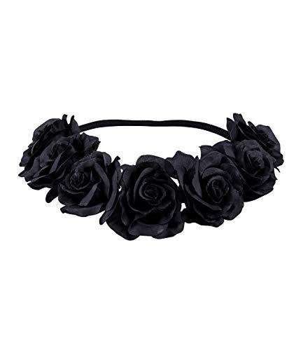 SIX Damen Haarband, Kopfband, Stirnband, Blumenkranz, Haarkranz, Kopfschmuck, Gothic, Rosen, Blüten, Kostüm, Fasching, Karneval (456-606)