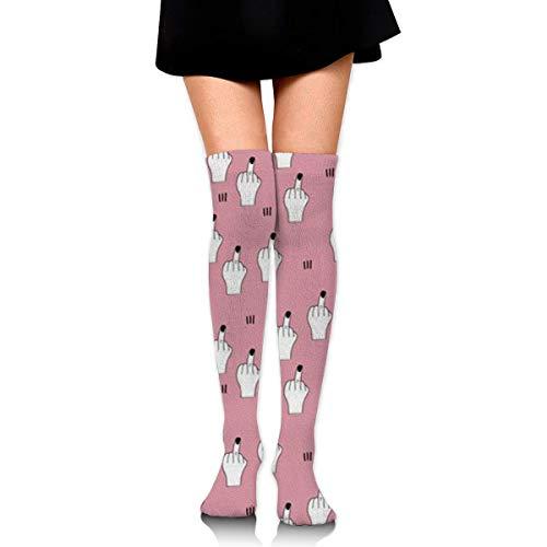 ZT-shop Fick lustige verrückte Socken für Frauen Kniestrümpfe lange athletische Sport Tube lässige Stiefel Strümpfe Beinlinge