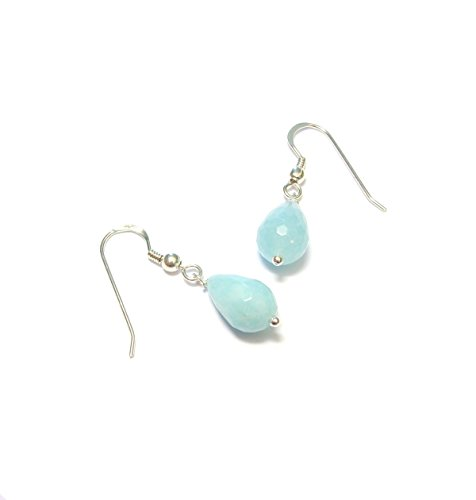 Pendientes de cuarzo azul – Piedras y plata 925