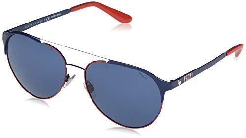 Ralph Lauren Polo 0PH3123 Gafas de Sol, Navy Blue/Red/White, 60 para Hombre