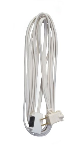 Woods Indoor Extension Cord With Remote On/Off Switch (White, 15 Ft)