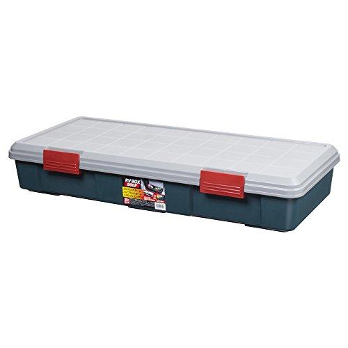 アイリスオーヤマ ボックス RVBOX 900F グレー/ダークグリーン 幅90×奥行40×高さ15.5cm
