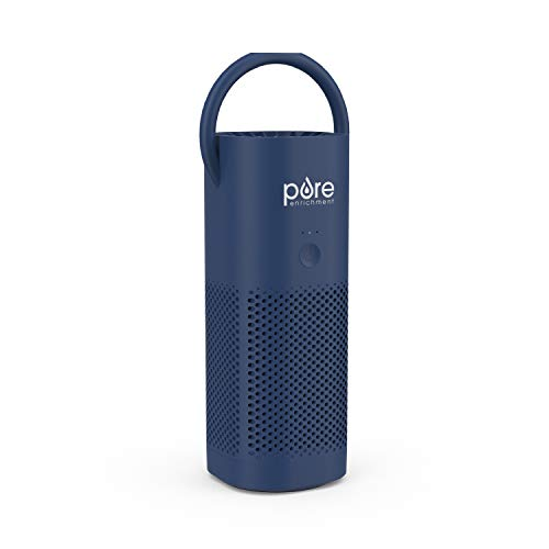 Pure Enrichment PureZone Mini Portable Air Purifier - True HEPA Filter Cleans Air, Helps Alleviate Allergies, Eliminates Smoke & More — Ideal for Traveling, Home, and Office Use (Blue)