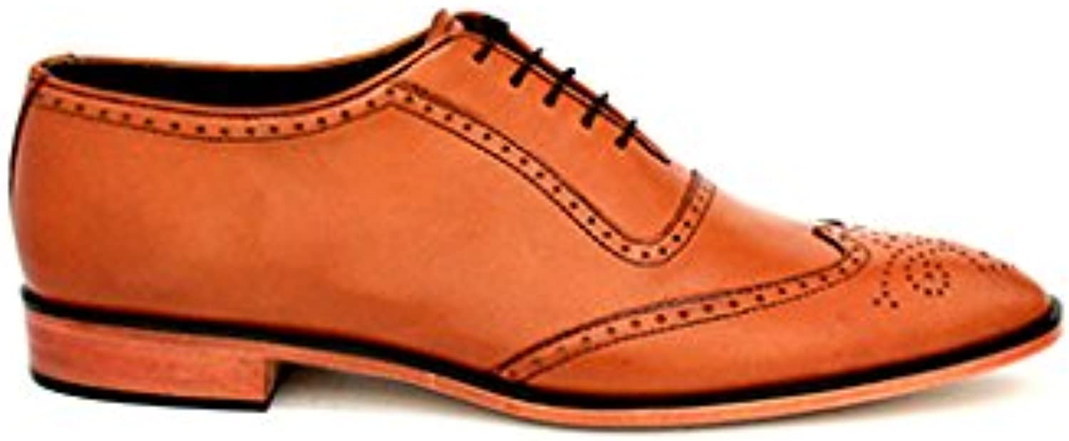 TAAVETTI Men's Formal Brown Handmade Leather Blythe Oxford shoes