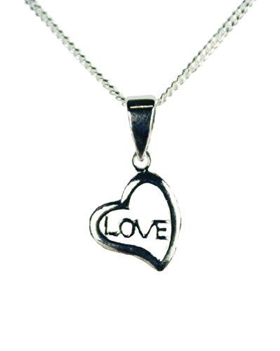HAAC Halskette Herz Anhänger Love Echt Sterling Silber 925