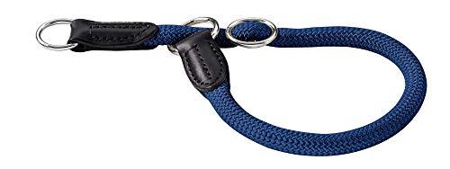 HUNTER Freestyle Dressurhalsung, Hundehalsband, Zugstopper, robust, wetterfest, 30 (XS-S), dunkelblau