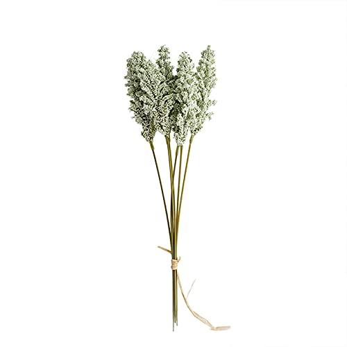 FRIGENN 6 Sticks künstliche Lavendel Tischdekorative Blumensträuße,Simulation von Maiskolben,Künstliche Blumentischdekoration,Für Familie, Küche, Tischdekoration (Green,1Pcs)