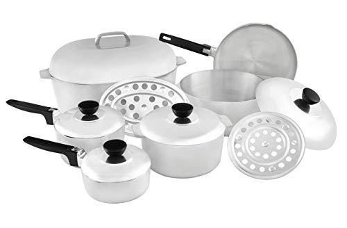 IMUSA USA Heavy Duty 13-Piece Cast Aluminum Cajun Cookware Set