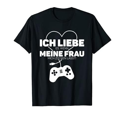 Herren Ich Liebe Meine Frau Partner Geschenk Für Ihn Mann Jahrestag T-Shirt
