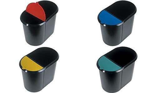 helit couvercle pour corbeille à papier Duo-System H61039,