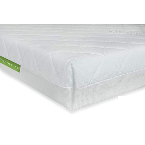 Mother Nurture Classic Travel Cot Mattress, White (95 x 65 x 7.5cm)