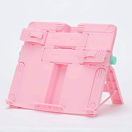 Nostalgie Bookends, Book Ends for Shelves, Bookends for Shelves, for Reading Files Book Stand Holder Portable Foldable Bookstand Desk Accessories (Color : Pure Pink)