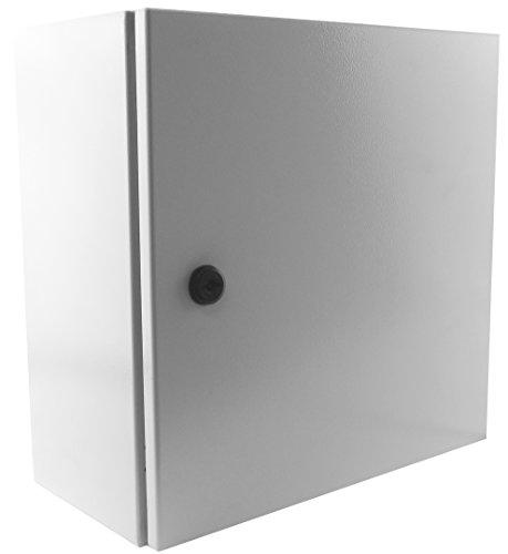 Yuco YC-20X20X6-UL-FE Fully Enclosed IP66 Enclosure, UL Certified, Nema 4, 16 Gauge, Single Door Hinge Cover, Wall-Mount, Backplate (20 x 20 x 6)