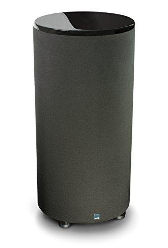 SVS PC-2000, Piano Gloss Black - Zylinderförmiger Bassreflex Aktiv-Subwoofer incl. SoundPath Isolation Absorberfüße
