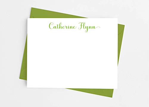 CHIC from the MOM of modern stationery note from mom personalized note card set set of 12 flat cards notes from home