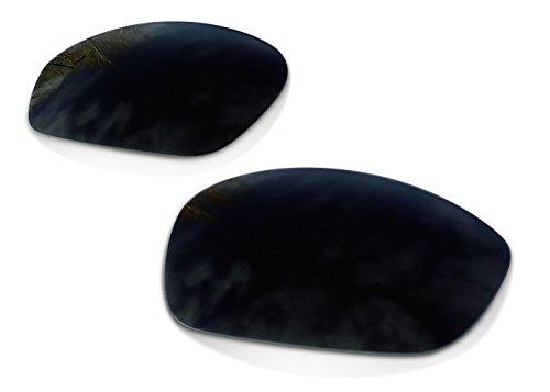 sunglasses restorer Kompatibel Ersatzgläser für Oakley Whisker, Polarisierte Black Iridium