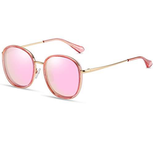 Weiqiao® - Gafas de sol para niños de 6 a 10 años, de metal, protección polarizada, accesorios de decoración modernos, para niñas y niños