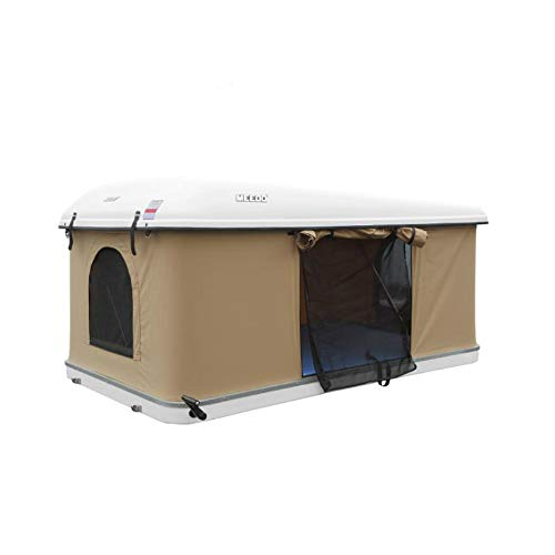 Tenda idraulica da Tetto per Auto, 1,6 m, Colore: Bianco con Tessuto Grigio
