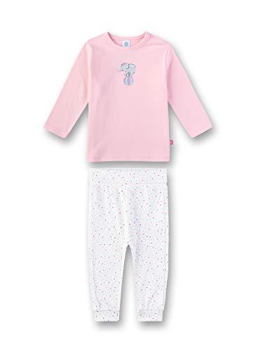 Sanetta Baby-Mädchen Pyjama Zweiteiliger Schlafanzug, Rosa (Rosarot 3532), (Herstellergröße: 104)