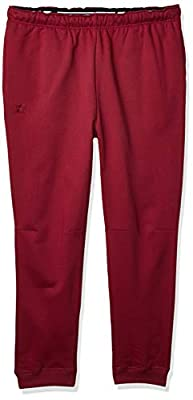 Starter Men's Jogger Sweatpants with Pockets, Amazon Exclusive, Team Maroon with Embroidered Logo, Medium