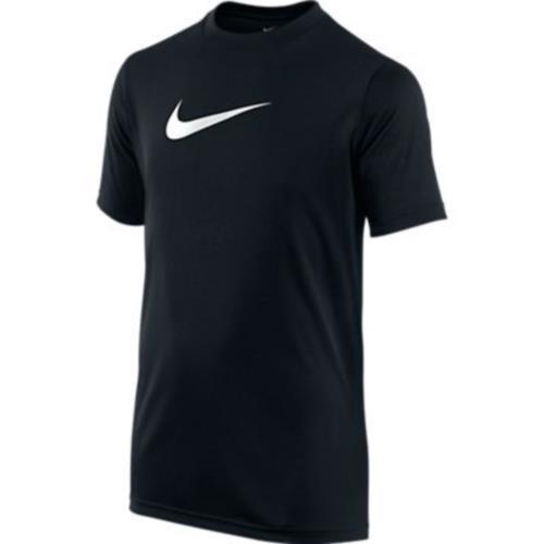 Nike Dry Big Kids Boys Training T-shirt,Black/White,SM (8 Big Kids)