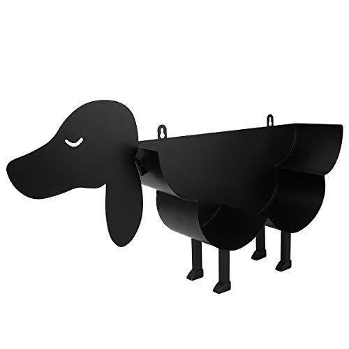 UPKOCH - Portarrollos de papel higiénico de pie y pared para papel higiénico, soporte de almacenamiento de papel higiénico, color negro