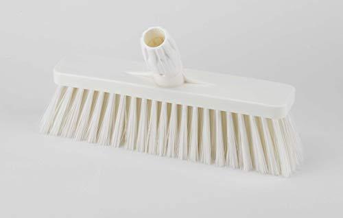 Aricasa Hygiene Products 1038WT bezem, recht, met steel cm. 30 voor gebruik met levensmiddelen – wit – pure vezel.