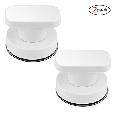 DDSKY Strong Suction Cup Drawer Glass Mirror Wall Tile Handles Toilet Bathroom Door Pulls Glass Door Pull Adsorbent Handle and Knobs