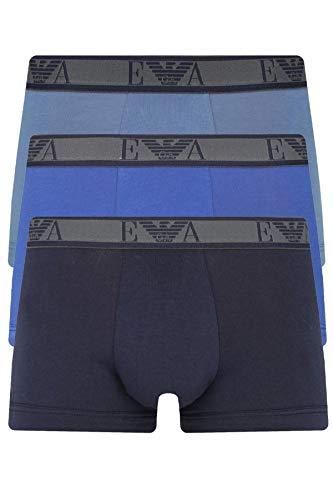 Emporio Armani Pack 3 Boxer Calzoncillos Hombre Trunk tripack artículo 111357 9A715