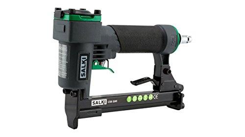 Salki 86900080 Grapadora Neumática CSK G80 para Madera, tapizados y múltiples usos. Apto para la Grapa 80 de 6-16mm de Longitud de Pata, Metal, L