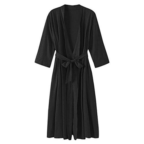 ZSQAW Kimono Vestido Gris Mujer Traje del Kimono Homewear Camisa de Dormir Atractiva Mini Dormir camisón Ocasional cómodo Suave del Traje (Color : C, Size : X-Large)