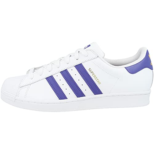 adidas Zapatillas para hombre Low Superstar, color Blanco, talla 43 1/3 EU