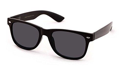+2.00 Sonnen Lesebrille Schwarz Lesebrille Sonnenbrille 100% UV-Schutz Getönte Gläser, Männer Frauen Retro Vintage Zeitlos Fall & Stoff