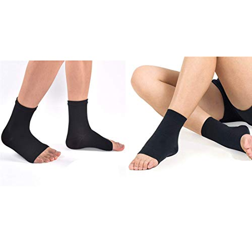 (2 Pair) Plantar Fasciitis Socks Arch Support Men & Women - Best 24/7 Compression Foot Sleeve Aching Feet & Heel Pain Relief - Washes Well, Holds Shape & Better Than a Night Splint