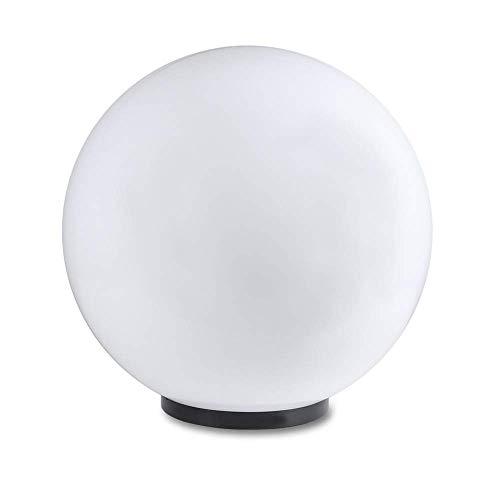 LHG Kugelleuchte 40 cm Ø, weiße Kugellampe, Außenleuchte, strahlend schöne Deko für Innen & Außen, Gartenbeleuchtung, Gartenkugel für Energiesparlampen E27 & LED - 230 V & 23W, Kugellampe mit IP44