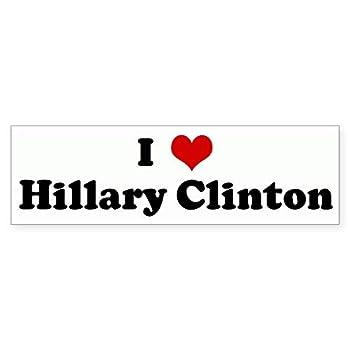 CafePress I Love Hillary Clinton Bumper Sticker 10 x3  Rectangle Bumper Sticker Car Decal