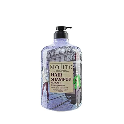 Mojito Hair Shampoo 2850ml, Intensive Haarpflege,für strapaziertes, brüchiges Haar und coloriertes Haar,Haarpflege Glanz,Beauty,Friseur Kabinett Shampoo Salz frei Parabene frei (No Salt 2850ml)