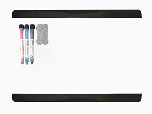 Formato A4 Lavagna Magnetica da Parete Funziona Come Un Magnete del Frigorifero Nero Autoadesivo Villexun in Materiale Liscio Design Creativo Nero. scrivibile con Pennarello per Ufficio