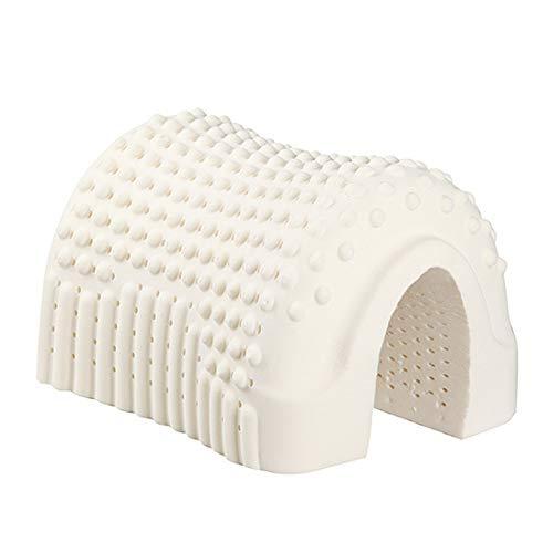 QIA Respirable estupendo látex Natural Cervical Almohada para Dormir Cuello Alivio del Dolor Cervical del Cuello de protección Almohada Cama, 60x40 * 10 / 12CM