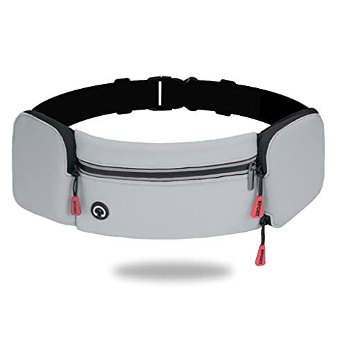 Bolsa de Cintura Impermeable Multifuncional para Viajar Senderismo funcionando Deportes al Aire Libre Holder (Color : Grey)
